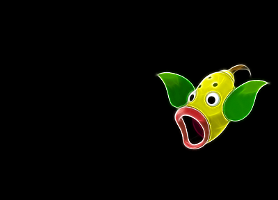 Pokemon, Fractalius, black background, Weepinbell - desktop wallpaper