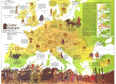 Europe, maps, celtic - related desktop wallpaper