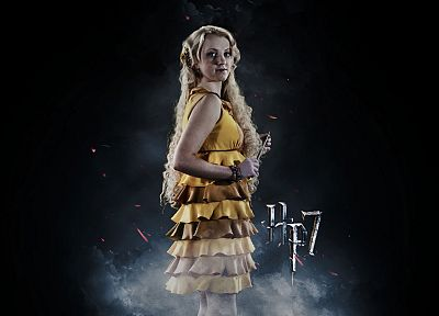 Harry Potter, Harry Potter and the Deathly Hallows, Luna Lovegood, Evanna Lynch - random desktop wallpaper