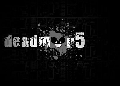 music, Deadmau5, music bands, house music, simplistic, black background, electronic - related desktop wallpaper