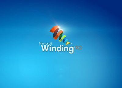 Angel Beats!, Windows XP, Microsoft, simple background, blue background, windows - random desktop wallpaper