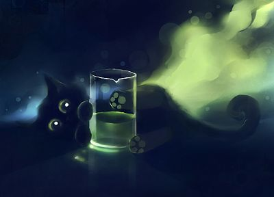 cats, Black Cat, DeviantART, artwork, kittens, Apofiss - related desktop wallpaper