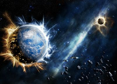 outer space, planets, digital art, artwork - related desktop wallpaper