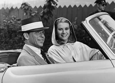 Frank Sinatra, Grace Kelly - random desktop wallpaper