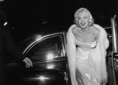 women, Marilyn Monroe, grayscale, monochrome - random desktop wallpaper