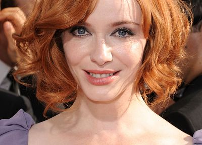 women, redheads, Christina Hendricks - random desktop wallpaper