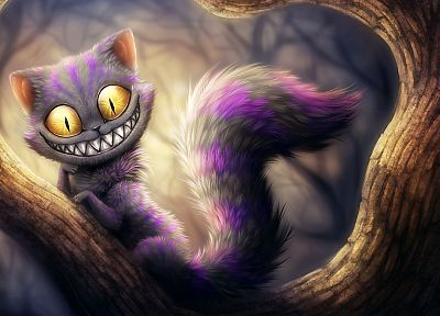cats, smiling, artwork, drawn, Cheshire Cat - random desktop wallpaper