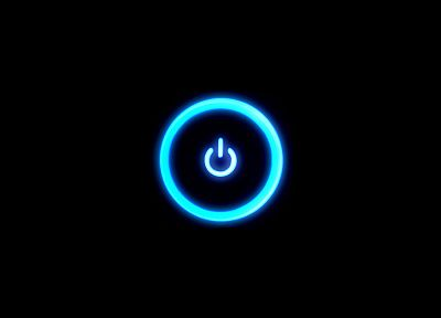 blue, rings, power button - random desktop wallpaper