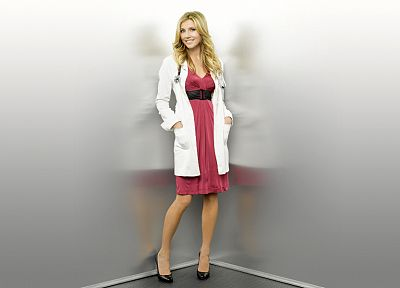 blondes, women, Sarah Chalke - desktop wallpaper