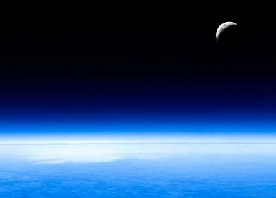 outer space, planets, Moon, Earth, skyscapes - related desktop wallpaper