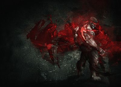 Ryu, Street Fighter IV, artwork, Evil Ryu - random desktop wallpaper