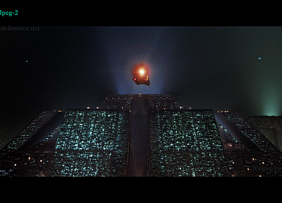 Blade Runner, science fiction, flying cars, ziggurat - random desktop wallpaper