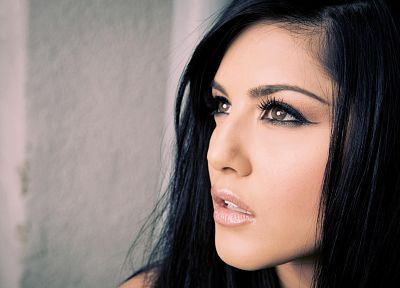 brunettes, women, pornstars, Sunny Leone, faces - related desktop wallpaper
