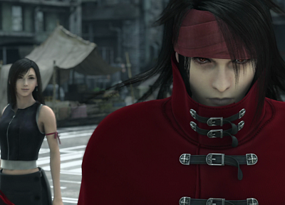 Final Fantasy VII Advent Children, Vincent, Tifa Lockheart, Vincent Valentine - random desktop wallpaper
