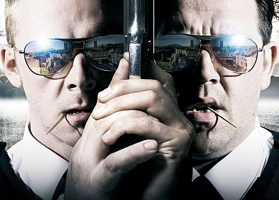 Hot Fuzz, Simon Pegg, Nick Frost - random desktop wallpaper