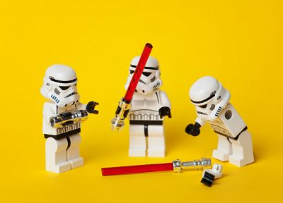 Star Wars, stormtroopers, Legos - desktop wallpaper