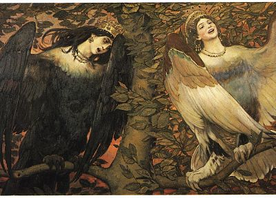 paintings, fantasy art, mythology, Viktor Vasnetsov, Slavic - random desktop wallpaper