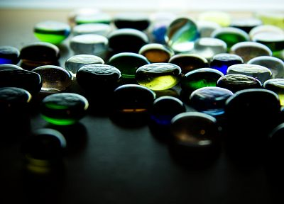 glass, macro, marbles - random desktop wallpaper