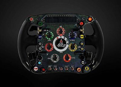 Formula One, steering wheel - desktop wallpaper