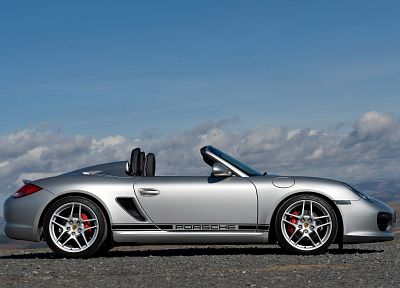 cars, convertible, grey cars, Porsche Boxter Spyder - random desktop wallpaper