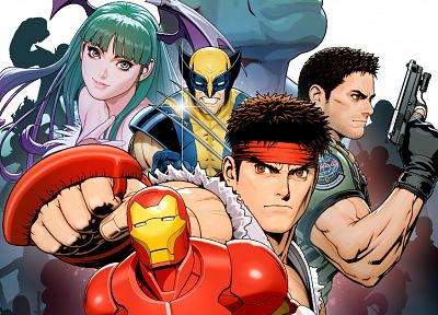 Iron Man, Wolverine, Marvel vs Capcom 3 - random desktop wallpaper
