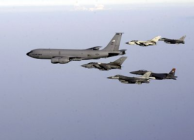 aircraft, military, F-15 Eagle, F-16 Fighting Falcon, KC-135 Stratotanker, GR4 Tornado - desktop wallpaper