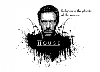 quotes, religion, House M.D., white background - desktop wallpaper