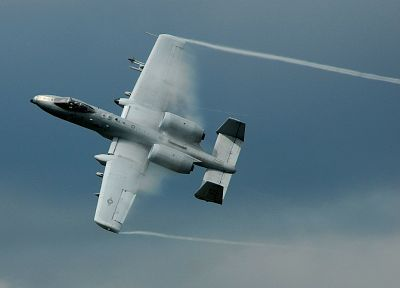aircraft, military, planes, A-10 Thunderbolt II, sound barrier - related desktop wallpaper