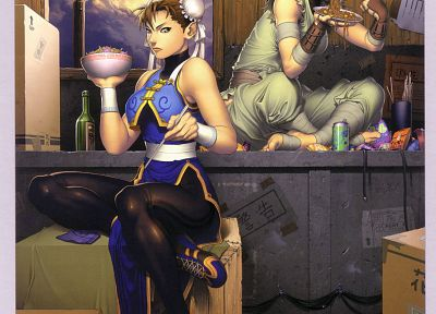 video games, Street Fighter, Ibuki, artbook, Chun-Li, artwork, Chinese clothes - related desktop wallpaper