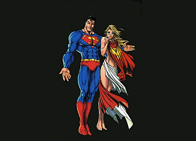 DC Comics, Superman, Supergirl - random desktop wallpaper