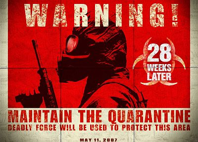 gas masks, 28 Weeks Later, quarantine - random desktop wallpaper