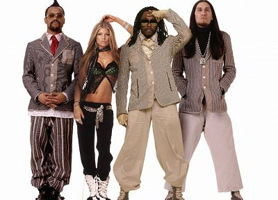 Black Eyed Peas, white background - random desktop wallpaper
