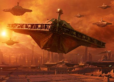 Star Wars, spaceships, science fiction, Star Wars: Attack of the Clones - desktop wallpaper