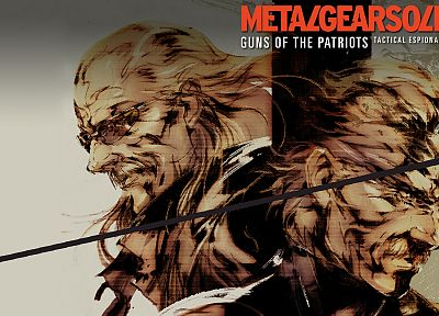 Metal Gear, video games, Metal Gear Solid, old snake, Revolver Ocelot, Metal Gear Solid 4 - desktop wallpaper
