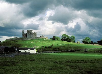 castles, Ireland, Rock of Cashel - desktop wallpaper