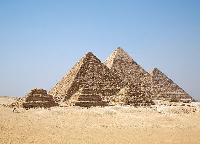 Egypt, pyramids, Great Pyramid of Giza - random desktop wallpaper