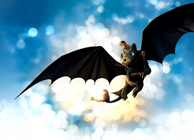 toothless, How to Train Your Dragon, Hiccup - random desktop wallpaper