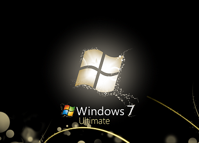 black, Windows 7, Microsoft, Microsoft Windows, logos, operational sistem - related desktop wallpaper