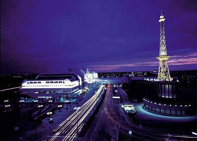 cityscapes, buildings, Berlin, long exposure, ICC - desktop wallpaper