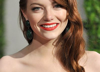 women, Emma Stone, earrings - random desktop wallpaper