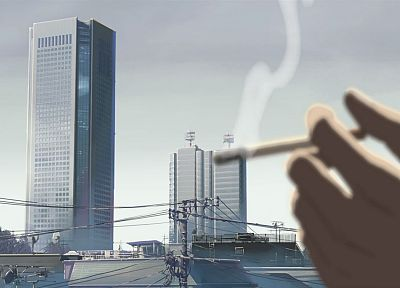 Makoto Shinkai, 5 Centimeters Per Second, cigarettes - random desktop wallpaper