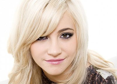 blondes, women, Pixie Lott, faces, white background - random desktop wallpaper