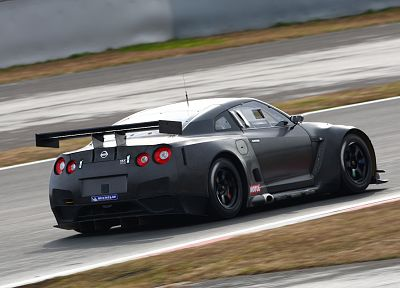cars, Nissan, vehicles, supercars, black cars, Nissan GT-R FIA GT1 - desktop wallpaper