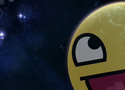 outer space, Awesome Face - desktop wallpaper