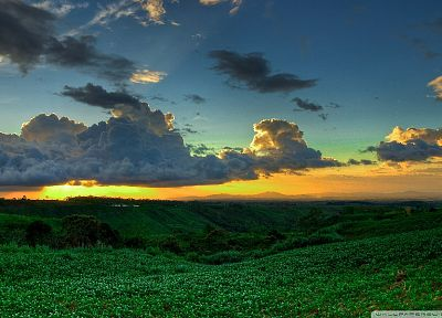 sunset, clouds, landscapes, nature, Philippines - desktop wallpaper