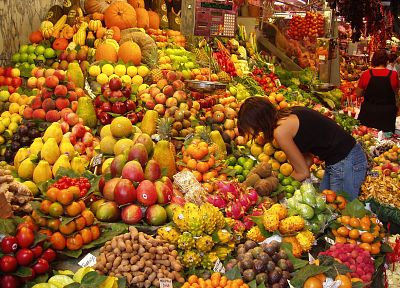 market, fruits, oranges, bananas, apples - random desktop wallpaper