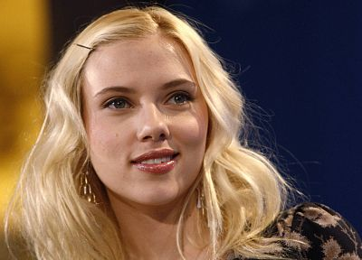 blondes, women, Scarlett Johansson, actress, faces - related desktop wallpaper