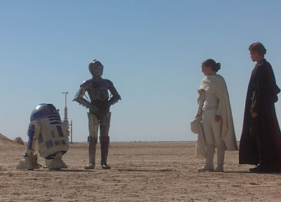 Star Wars, C3PO, R2D2 - random desktop wallpaper