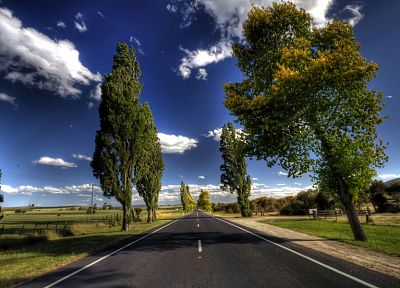 clouds, landscapes, nature, trees, roads, skyscapes - related desktop wallpaper