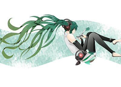 Vocaloid, Hatsune Miku, Miku Append, simple background, anime girls, Vocaloid Append - related desktop wallpaper
